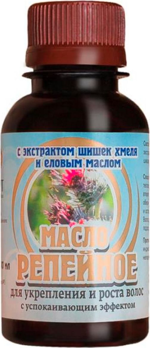 Биолит Репейное масло с экстрактом хмеля и еловым маслом, 100 мл Биолит