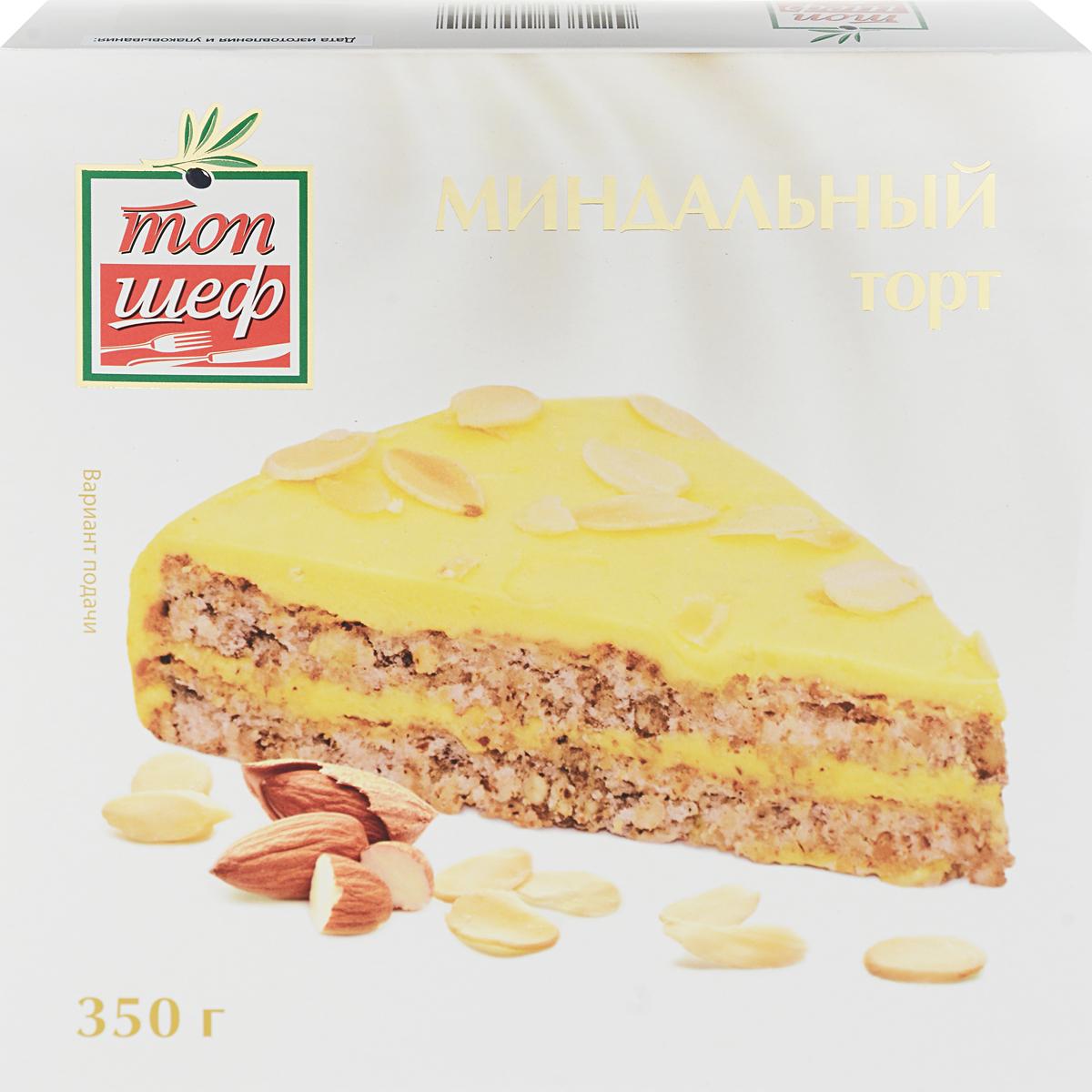 Топ Шеф Торт Миндальный, 350 г пудовъ торт брауни 350 г