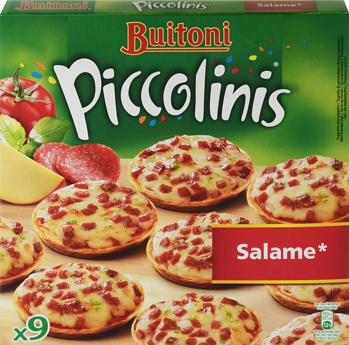 Buitoni La Pizzeria Пикколини Салями, 270 г калинина а в пицца на любой вкус