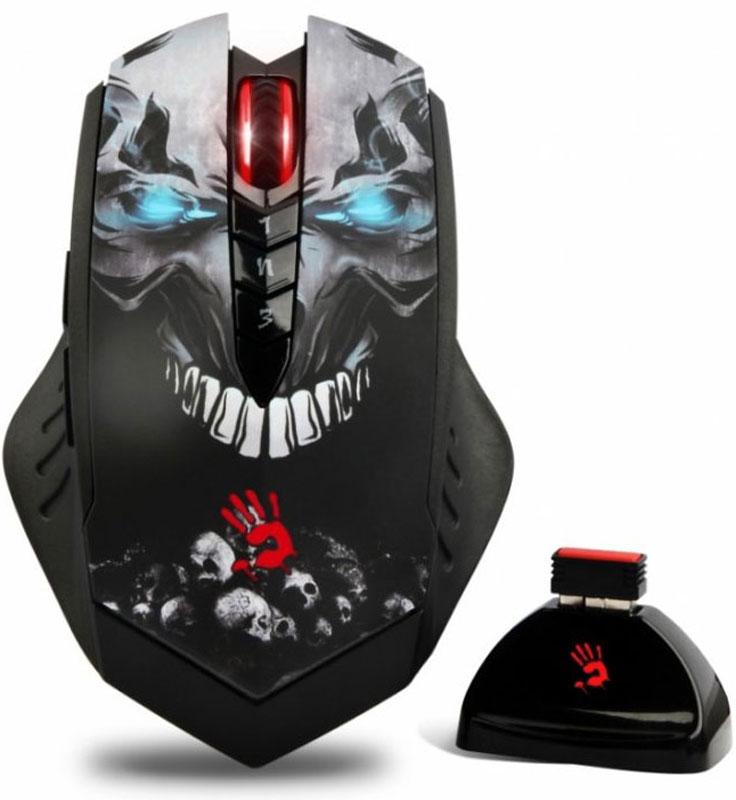 лучшая цена Игровая мышь A4Tech Bloody R80 Skull, Black