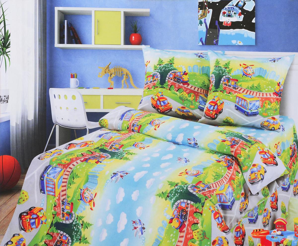 Комплект белья детский АртПостель Детский парк, 1,5-спальный, наволочки 70x70. 100 комплект белья детский артпостель детский парк 1 5 спальный наволочки 70x70 100