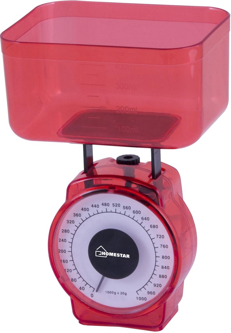 Кухонные весы HomeStar HS-3004М, Red кухонные весы homestar hs 3002 brown