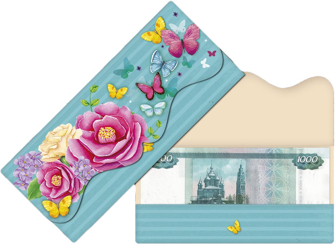 Конверт для денег Дарите Счастье Нежность и волшебство, формовой, 17,5 х 8 см конверт для денег дарите счастье роскошной жизни