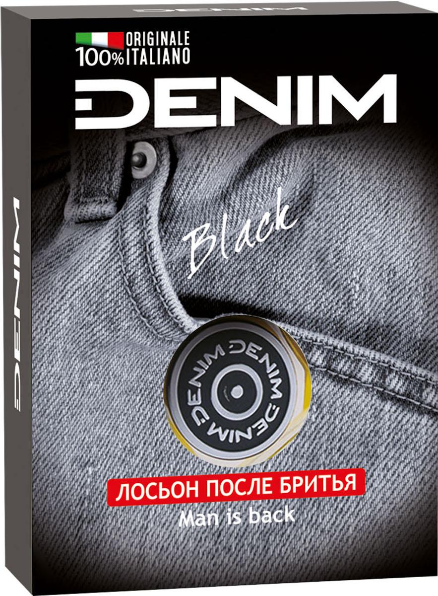 Denim Лосьон после бритья Black, 100 мл buckle design denim belt