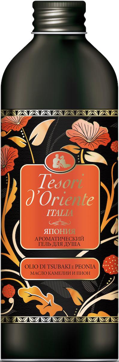 Tesori d'Oriente Ароматический гель для душа Масло камелии и пион, 500 мл ремешки для обуви tesori