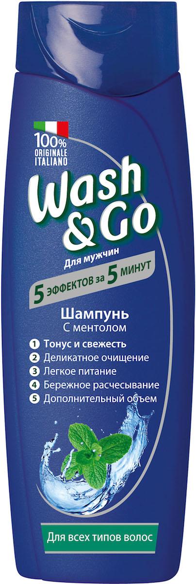 Wash&Go Шампунь с ментолом для всех типов волос, 400 мл шампунь с ментолом цена