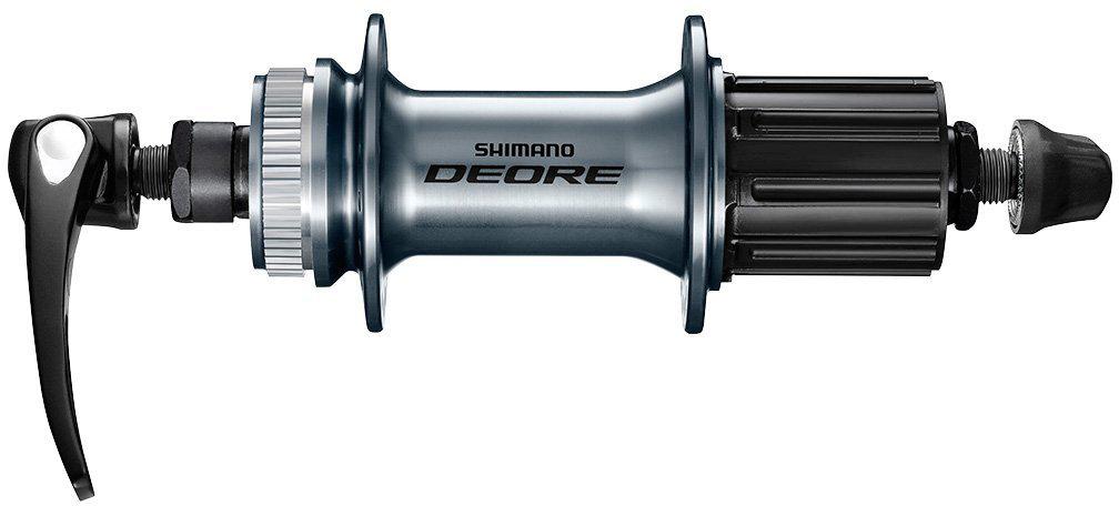 Втулка задняя Shimano Deore M6000, 32 отверстия, 8/9/10ск, C.Lock, QR, с пыльником, цвет: серебристый