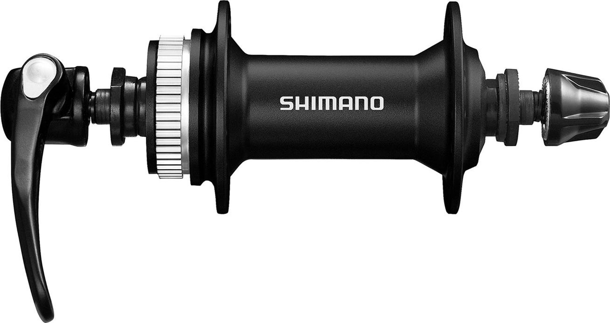 Втулка передняя Shimano Alivio M4050, 32 отверстия, C.Lock, QR 133 мм, цвет: черный втулка передняя shimano claris 2400 36 отверстий qr 129 мм цвет черный
