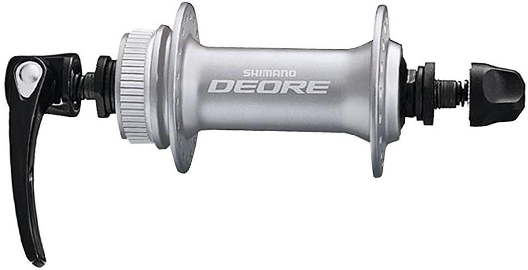 Втулка передняя Shimano Deore M6000, 32 отверстия, C.Lock, QR, цвет: серебристый