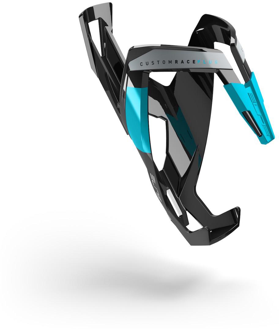 Флягодержатель Elite Custom Race Plus, цвет: черный глянец, синий
