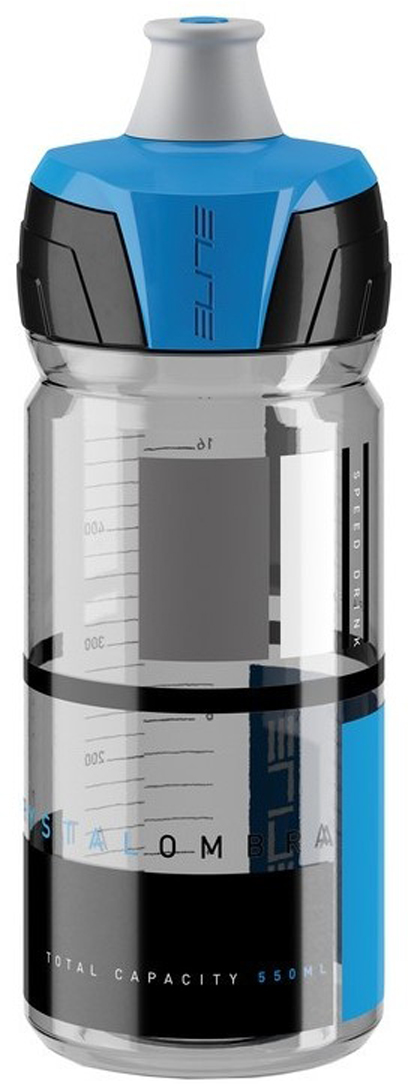 Фляга Elite Crystal Ombra, цвет: синий, 550 мл фляга elite nomo 750 мл пищевой пластик белый el0173002