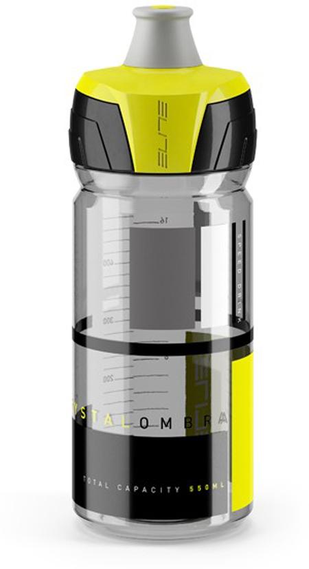 Фляга Elite Crystal Ombra, цвет: желтый, 550 мл фляга elite nomo 750 мл пищевой пластик белый el0173002