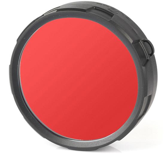 Фильтр для фонарей Olight FM21-R, цвет: красный фильтр для фонарей armytek для охоты цвет красный a00501r