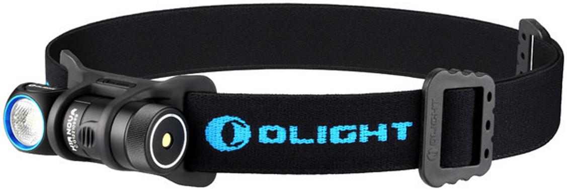 Фонарь светодиодный налобный Olight H1R Nova, CW холодный, с АКБ и USB ЗУ аккумулятор для фонаря olight orb 163c05 16340 li ion 3 7 в 550 mah
