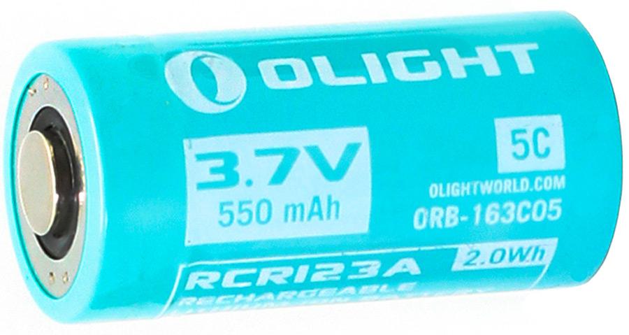 Аккумулятор для фонаря Olight ORB-163C05, 16340, Li-ion, 3,7 В, 550 mAh аккумулятор olight 26650 3 7 в 4500 mah