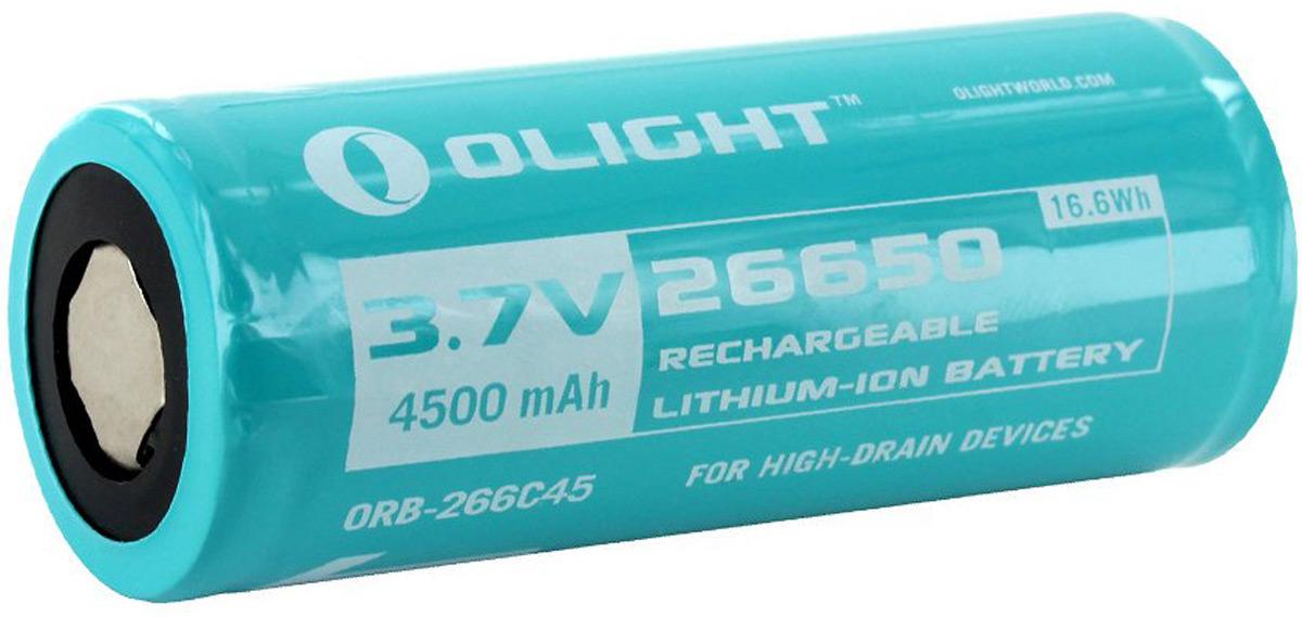Аккумулятор для фонаря Olight ORB-266C45 26650, Li-ion, 3,7 В, 4500 mAh