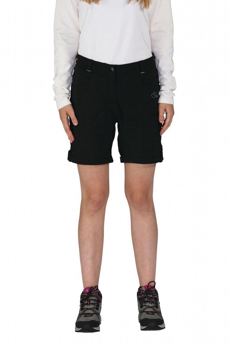 Велошорты женские Dare 2b Melodic Short, цвет: черный. DWJ336-800. Размер 12 (44/46)
