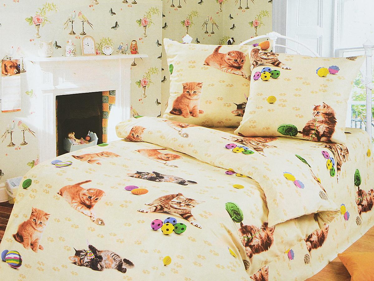 Комплект белья детский АртПостель Усатый-полосатый, 1,5-спальный, наволочки 70x70. 100 комплект белья детский артпостель детский парк 1 5 спальный наволочки 70x70 100