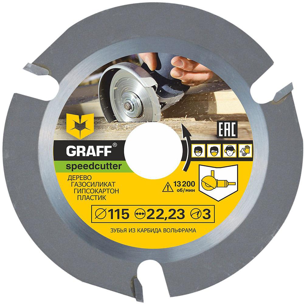 Круг пильный GRAFF speedcutter115, Сталь круг отрезной graff gadi 125 16