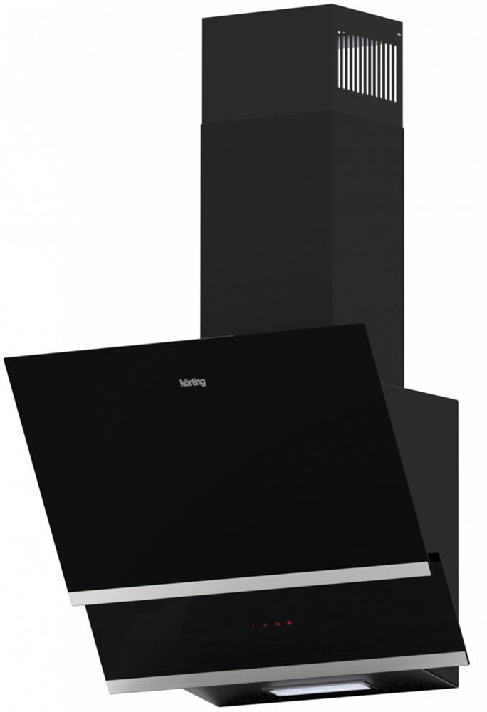 Вытяжка Korting KHC 65070 GN, Black, наклонная вытяжка korting khc 97070 gn black наклонная