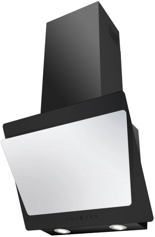 Вытяжка Korting KHC 67070 GWN, White Black, наклонная вытяжка korting khc 97070 gn black наклонная
