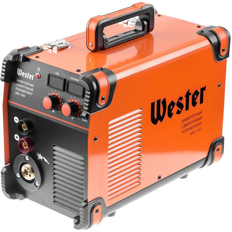 Полуавтомат сварочный инверторный Wester MIG-160i, MIG/MAG/MMA, 40-160A, 0.6-1.2 мм евроразьем