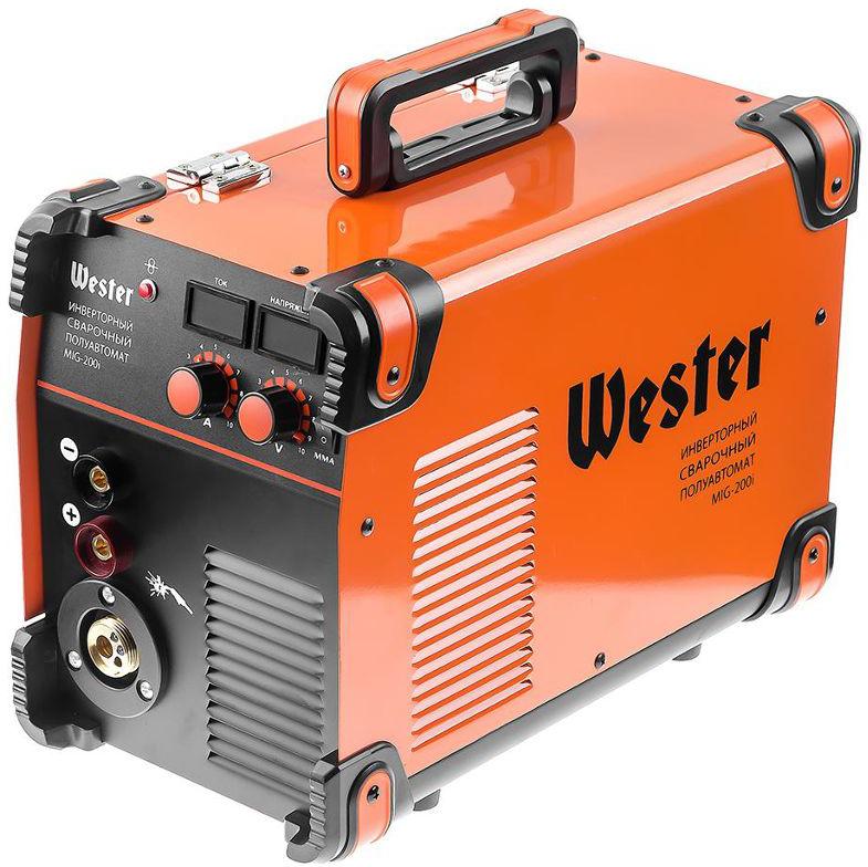 Полуавтомат сварочный инверторный Wester MIG-200i, MIG/MAG/MMA, 40-200A, 0.6-1.2 мм евроразьем