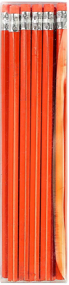 Calligrata Карандаш чернографитный с ластиком твердость HB цвет корпуса оранжевый карандаш чернографитный с ластиком твердость нв цвет корпуса черный желтый