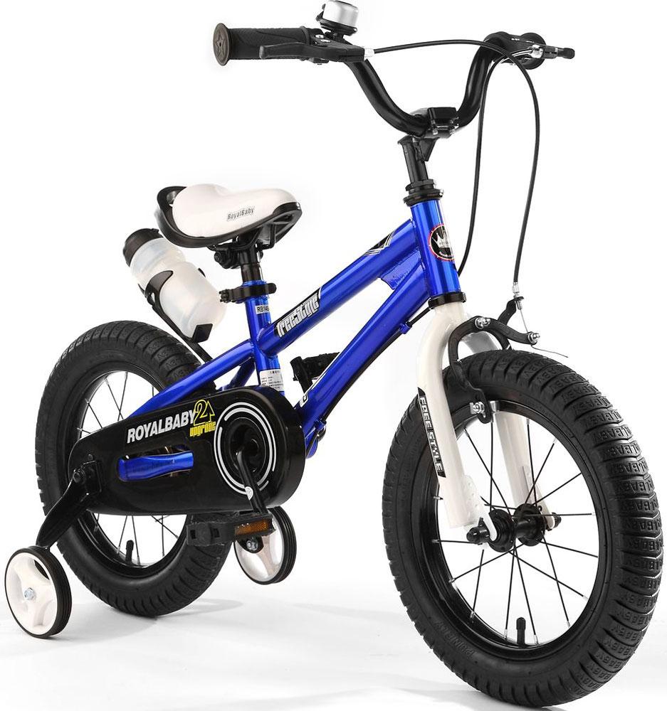 """Велосипед детский Royal Baby """"Freestyle 14"""""""", цвет: синий"""