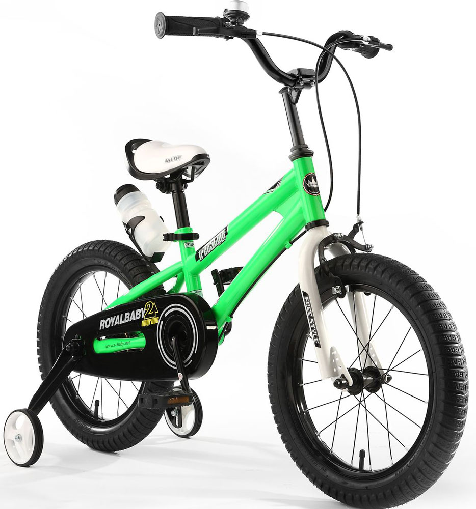 Велосипед детский Royal Baby Freestyle 16, цвет: зеленый