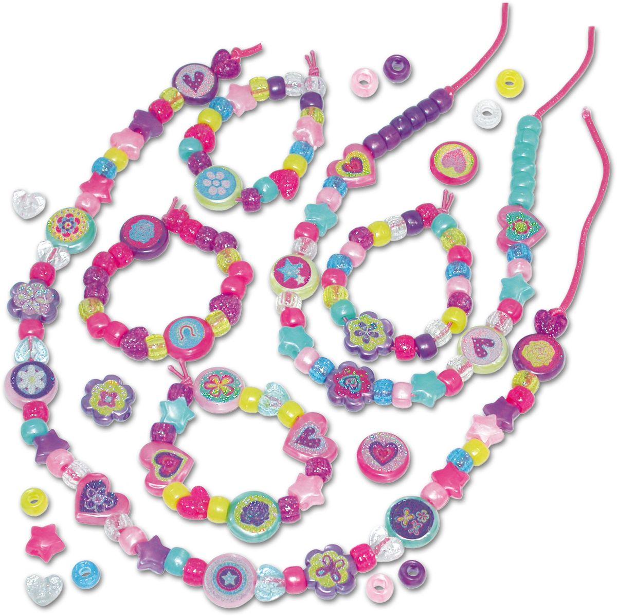 Galt Набор для создания украшений Переливающиеся бусы и браслеты игровой набор карусель для создания украшений из бусинок lalaloopsy