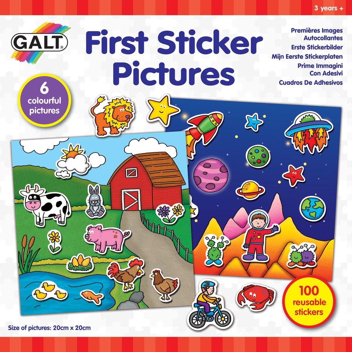 Galt Многоразовые стикеры Первые стикеры