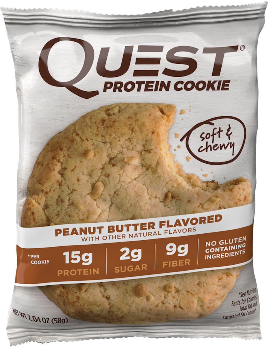 Печенье Quest Nutrition Quest Cookie Peanut Butter Cookie, 58 г паста dopdrops арахис морская соль стевия 265 г