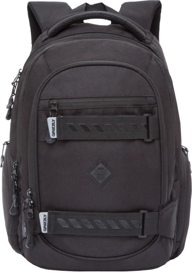 Рюкзак городской Grizzly, цвет: черный. RU-812-2/2 рюкзак городской grizzly цвет салатовый коричневый 23 л ru 619 2 2