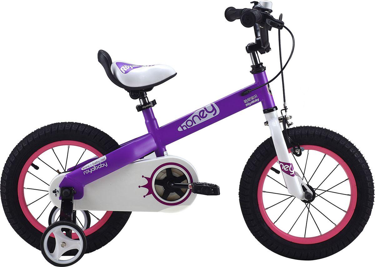 Велосипед детский Royal Baby Honey Steel 16, цвет: фиолетовый