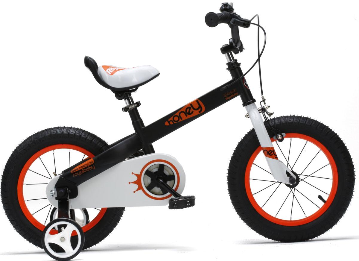 Велосипед детский Royal Baby Honey Steel 16, цвет: черный
