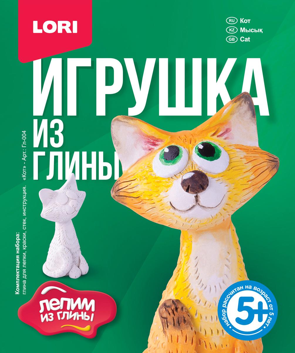 Lori Набор для детского творчества Игрушка из глины Кот