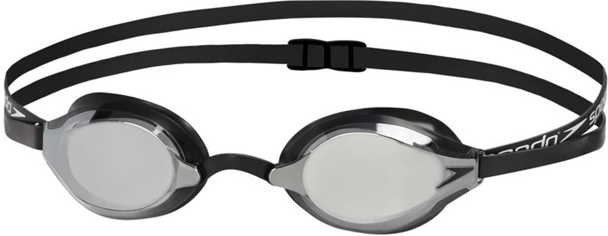 Очки для плавания Speedo Fastskin Speedsocket 2 Mirror, цвет: черный, зеркальный цена