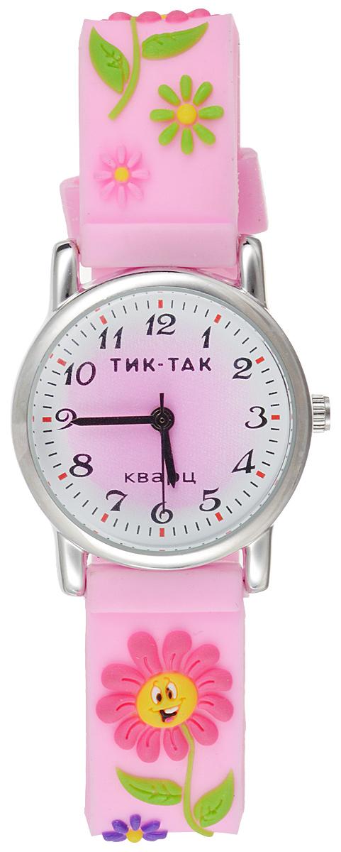 Часы наручные детские Тик-Так Цветочки, цвет: зеленый. 101-2 часы детские наручные