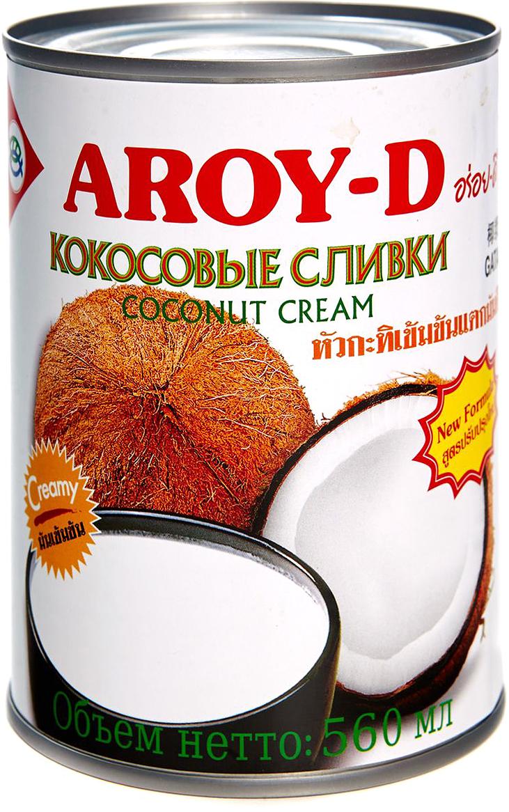 Aroy-d Кокосовые сливки 70% жирность 20-22%, 560 мл готовый суп aroy d том ям 400 мл