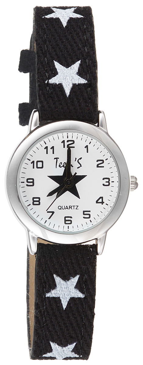 Часы наручные детские Тик-Так Звезды, цвет: черный. 114-4 часы детские наручные