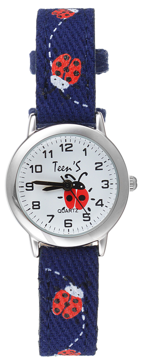 Часы наручные детские Тик-Так Божьи коровки, цвет: синий. 114-4 часы наручные детские тик так звезды цвет черный 114 4
