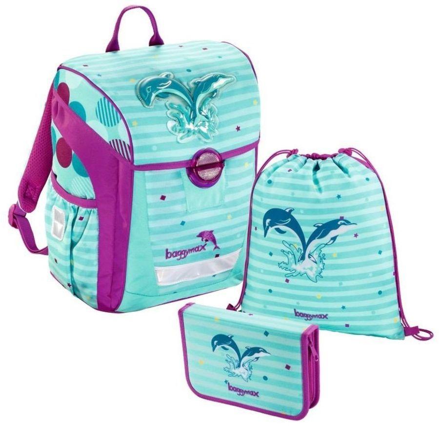 Step By Step Ранец школьный BaggyMax Trikky Dolphin с наполнением 3 предмета step by step ранец школьный baggymax niffty unicorn dream с наполнением 3 предмета