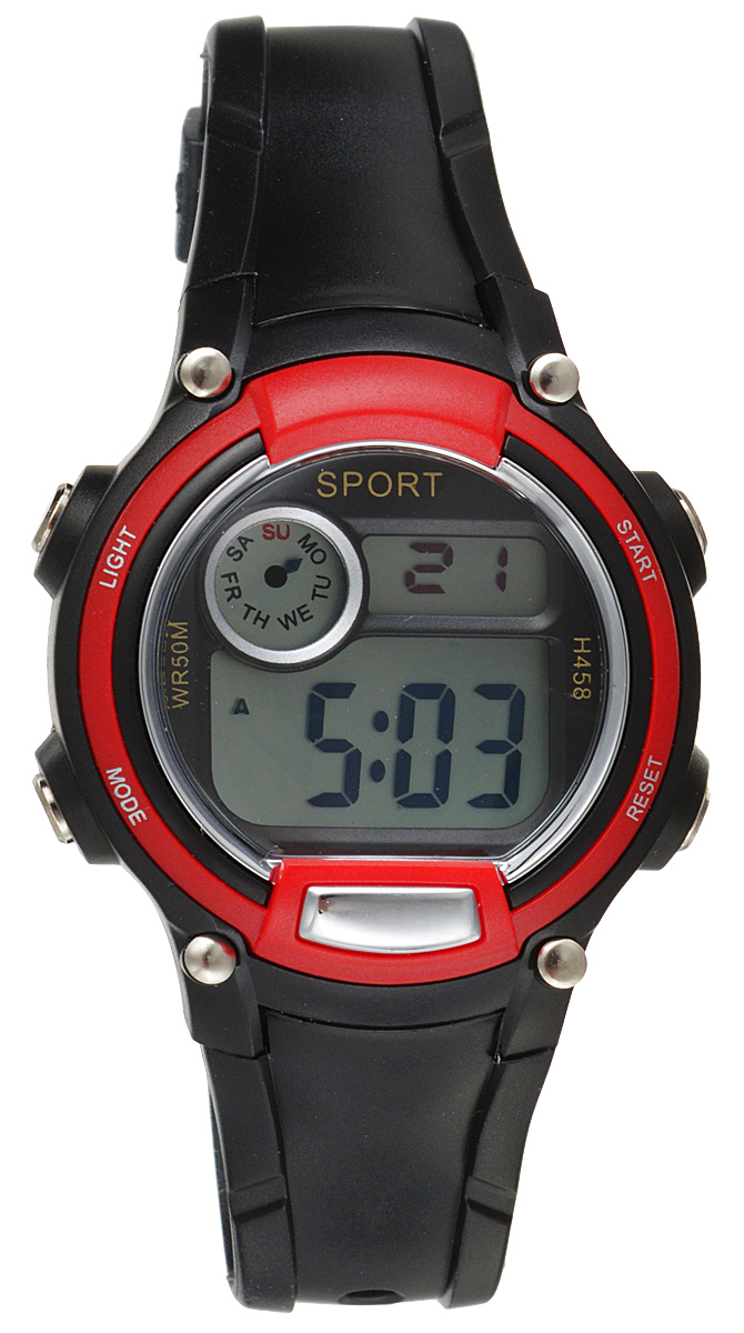 Часы наручные детские Тик-Так, цвет: красный. Н458 WR50