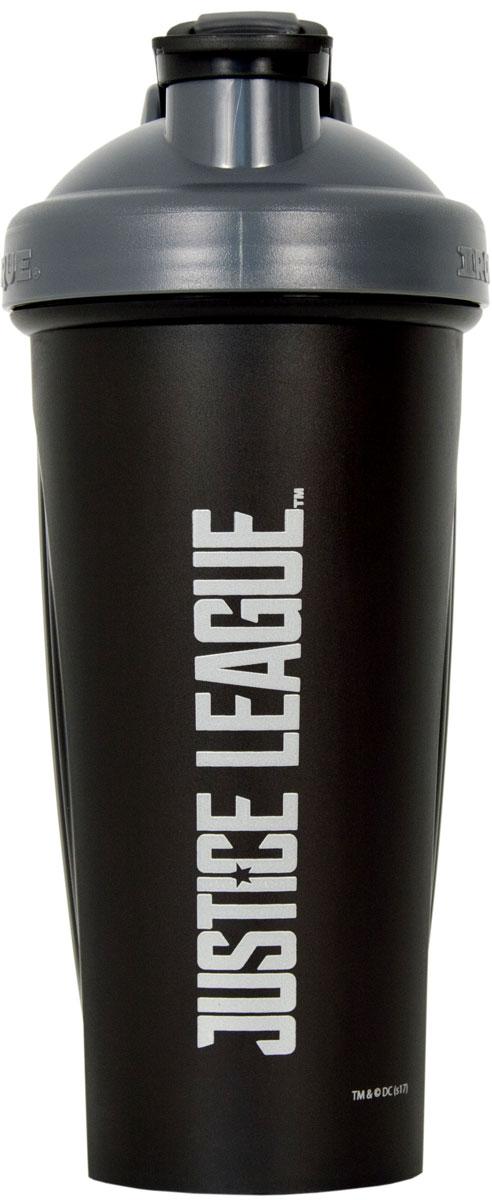 """Шейкер спортивный Irontrue """"Justice League"""", цвет: черный, темно-серый, 700 мл"""