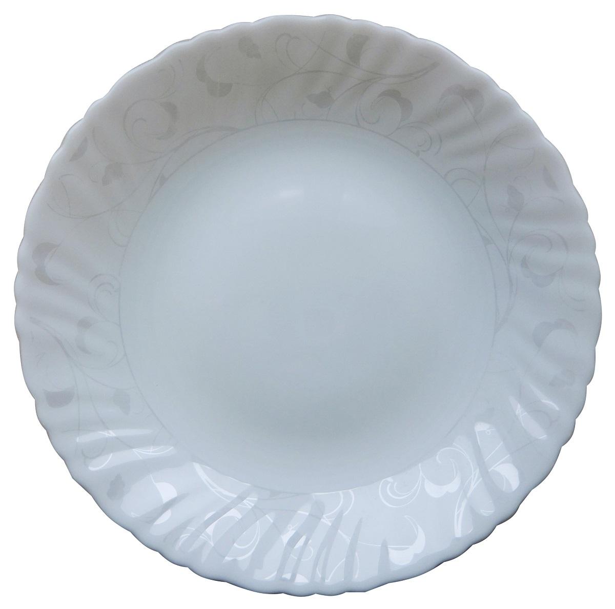 Тарелка обеденная Chinbull Иль-де-Франс. Волна, диаметр 24 см цена