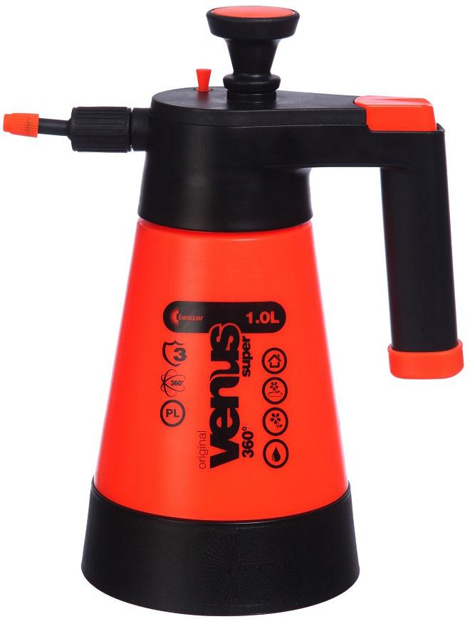 Опрыскиватель компрессионный Kwazar Venus Супер 360, цвет: оранжевый, 1 л форсунка для опрыскивателя стандартная угол 110 голубая kwazar