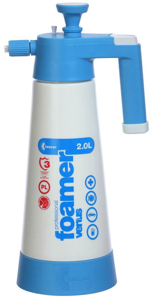 Пеногенератор Kwazar Venus Super Pro+, цвет: белый, голубой, 2 л форсунка для опрыскивателя стандартная угол 110 голубая kwazar