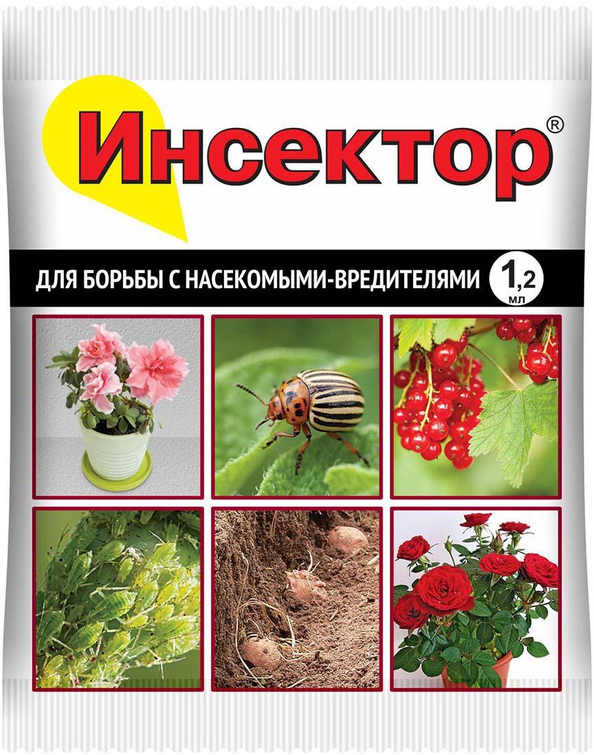 Препарат для защиты растений Ваше хозяйство Инсектор, от вредителей, 1,2 мл препарат для защиты растений ваше хозяйство инсектор от вредителей 1 2 мл