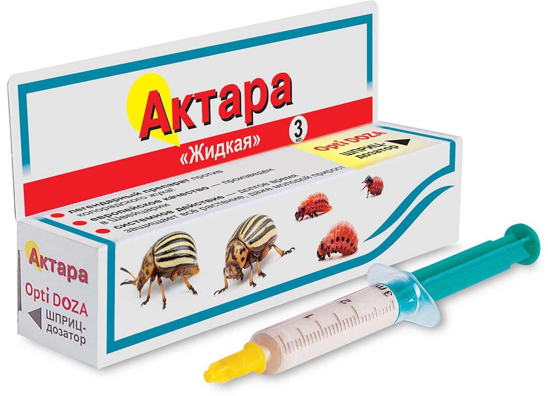Препарат для защиты растений Ваше хозяйство Актара, от вредителей, 3 мл препарат для защиты растений ваше хозяйство престижитатор от вредителей 25 мл